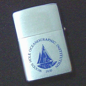 ZIPPO WOODS HOLE OCEANOGRAPHIC INSTITUTION 1930年設立