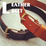 OILED LEATHER BELT