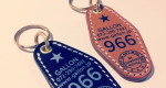 MOTEL TAG KEY RING