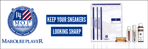 MARQUEE PLAYER - 「KEEP YOUR SNEAKERS LOOKING SHARP」のスローガンのもと、スニーカーケアに特化したプロダクトをラインナップしています。