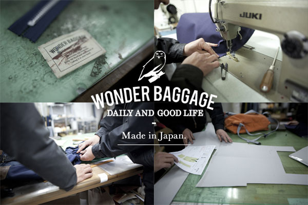 WONDER BAGGAGE ワンダーバゲージ 国産 made in japan