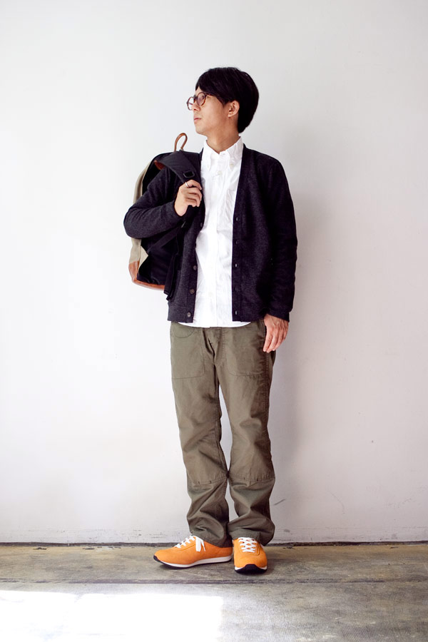 CANTON Overalls キャントン Vintage duck x Paraffin oil coating Double knee trousers model with button パラフィン オイル コーティング ダブル ニー トラウザー