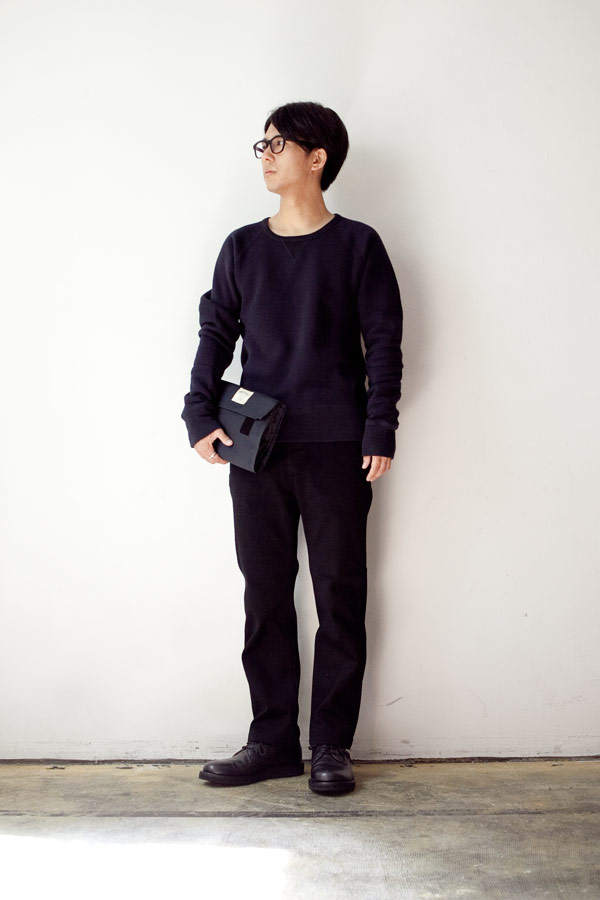 CANTON Overalls キャントン Vintage tateami heavy knit Slim trousers model with button ヴィンテージ 経編み ヘヴィ ニット スリム トラウザー