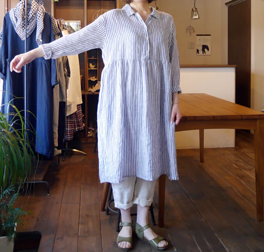 Heavenly, ヘブンリー, 612205, French Linen Henry Neck One Piece