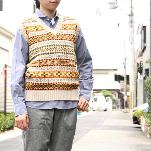 DULYN KNIT WEAR フェアアイル Vネックベスト