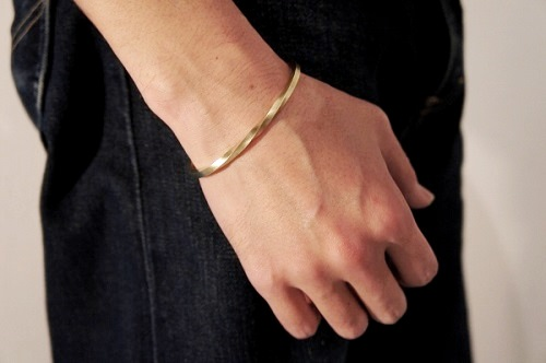 Slow Rise Brass Bangle
