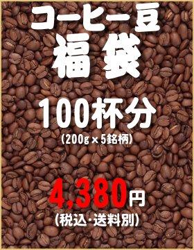 【2017年1月4日より発送開始】【珈琲豆・粉】コーヒー豆福袋 1kg(200g×5銘柄)(100杯分)