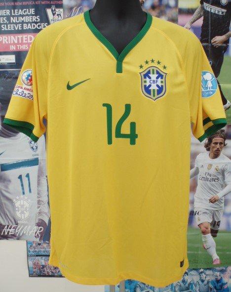 ブラジル(H)2015コパアメリカCHILE N&N+パッチ2個