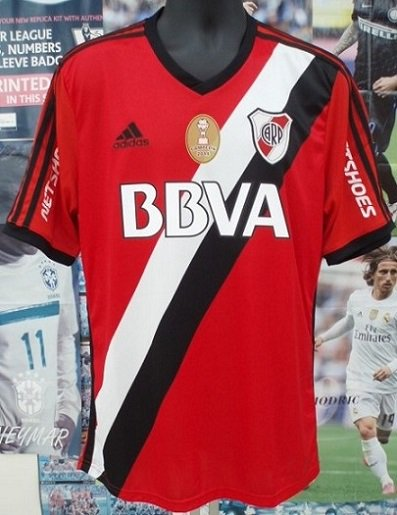 リーベルプレート(A)2015 Copa Sudamericana N&N+パッチ付き