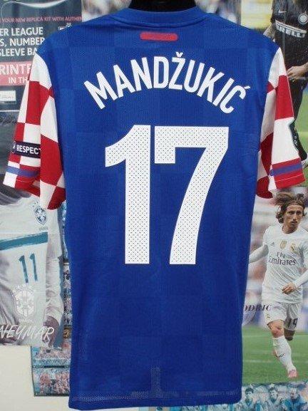 クロアチア(A) 11/12 選手支給 マンジュキッチ#17 Euro予選パッチ& Respectパッチ付き