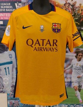 FCバルセロナ(A)15/16 オーセンティック Super copa de Espana2015 !選手用番号付き! N&N+パッチ、マッチデイ付…