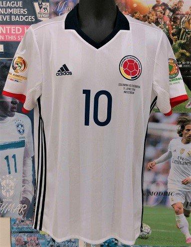 コロンビア(H) コパアメリカUSA 2016 ハメス#10+パッチ2個+マッチデイ