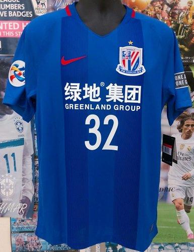 上海申花 (H) ACL2017  テベス#32+パッチ2個