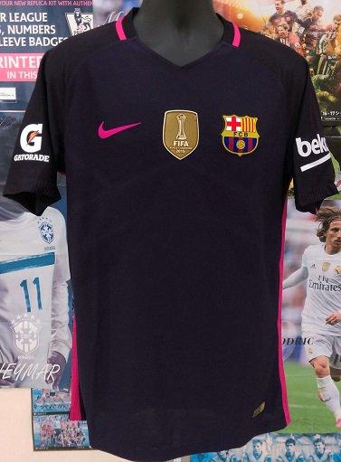 FC バルセロナ (A) Int National  Champions Cup 2016 オーセンティック 選手用穴開き背番号付き