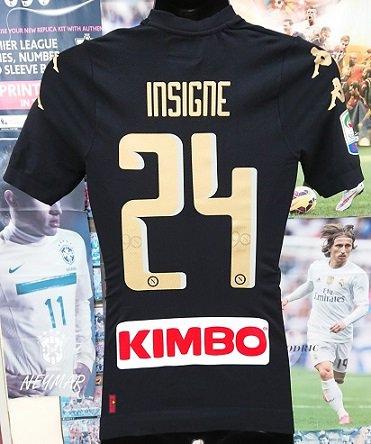 ナポリ(3rd) 16/17 オーセンティック インシーニェ#24 + Lega calcioパッチ付。