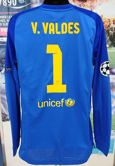 FCバルセロナ (GK) 13/14 選手支給 CL用 V,バルデス#1