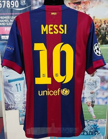FCバルセロナ(H) 14/15 選手支給 UEFA CL FINAL メッシ#10