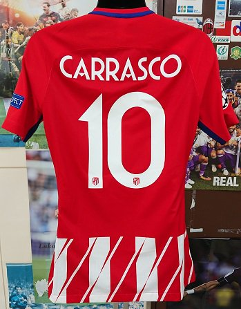 アトレティコ、マドリード(H)17/18 選手支給 UEFA CL用 カラスコ#10