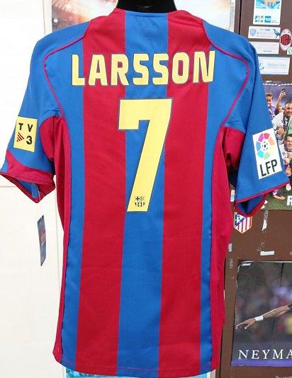 FCバルセロナ(H)04/05 ラーション#7 +LFP,TV3パッチ付