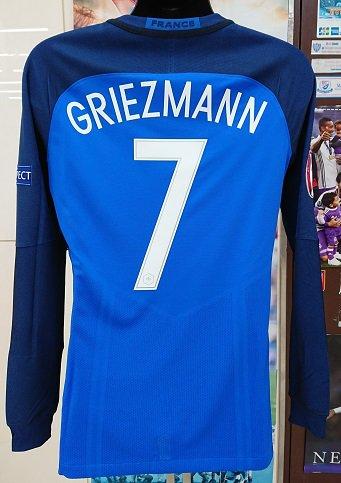 フランス代表(H) 選手支給-長袖 EURO-2016-FINAL グリーズマン#7vsポルトガル