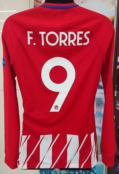アトレティコ、マドリード(H)UEFA EL 2018 FINAL 選手支給、長袖 F,トーレス#9