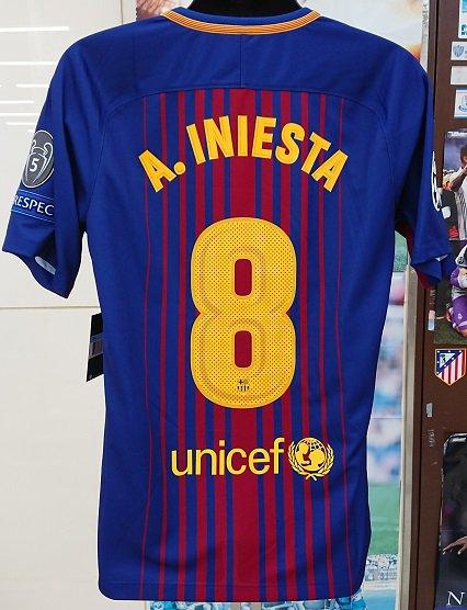 FCバルセロナ(H)17/18 UEFA CL用 A,イニエスタ#8(B選手用)