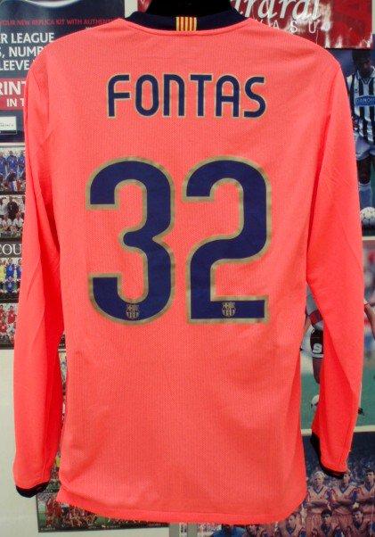 バルサ(A)09/10選手支給長袖FONTAS#32