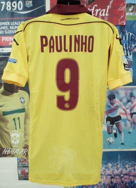 リボルノ(A)12/13 選手支給実着パウリーニョ#9