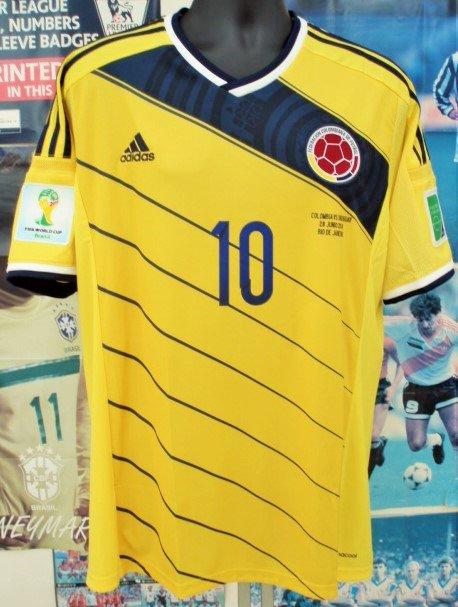 コロンビア(H)2014W杯ハメス、ロドリゲス#10 パッチ&マッチデイ付