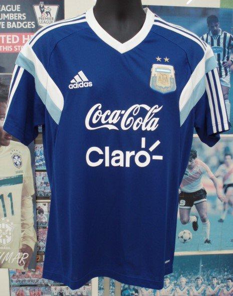 アルゼンチン14/15 トレーニングシャツ(青)フルスポンサー。
