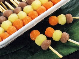 秋色三色団子 《冷凍》