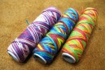 麻糸段染め糸(ミックス麻手縫い糸)