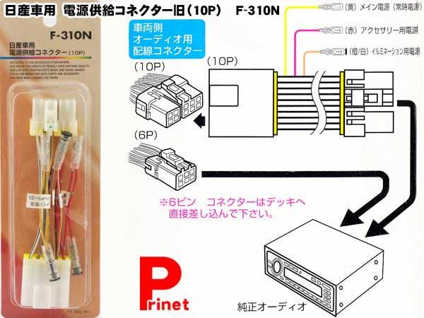 【メール便】日産車用電源供給コネクター旧(10P) F-310N