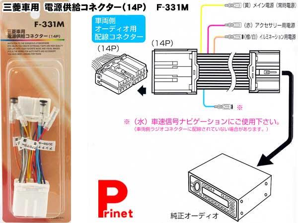 【メール便】三菱車用電源供給コネクター(14P)F-331M