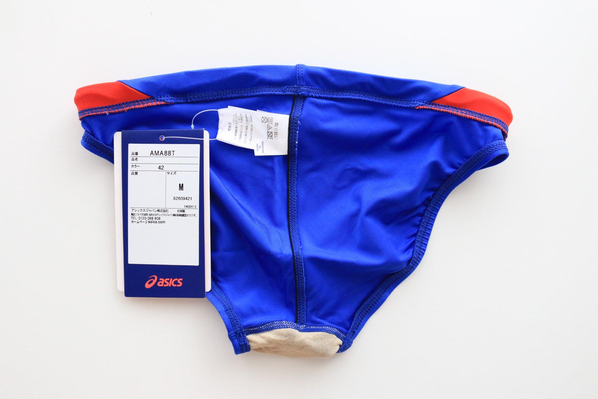 3e9a35de846 AMA88T asics ハイドロCD メンズ スパイラルカット 青赤白(42) - 競泳 ...