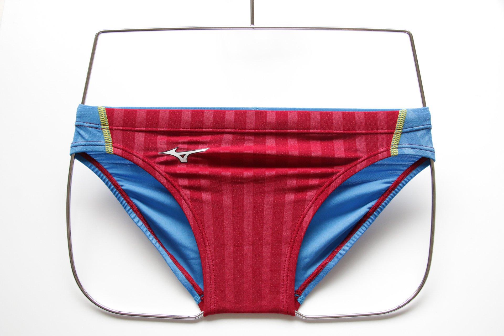 Mizuno Men's Swimwear Stream Aqucela Brief Red/LiteBlue