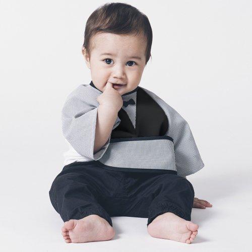 男の子用袖付き撥水おめかしお食事エプロン/Restaurantbib-boy(2色展開)