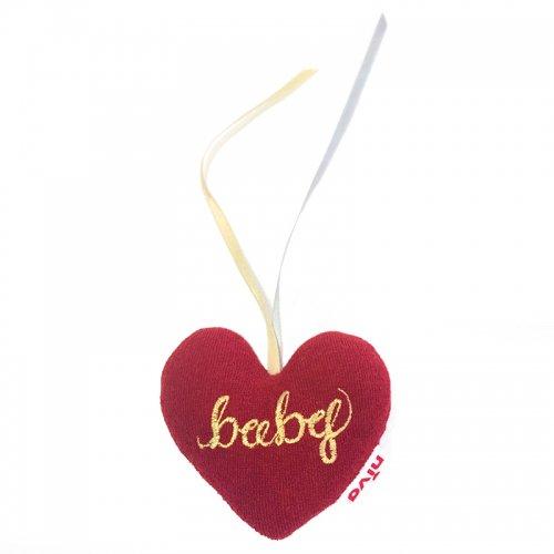 リボン付き鈴入りハート型ラトル/heart toy