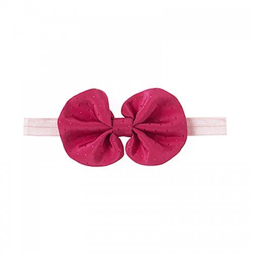 ドットプリントサテン地ヘアバンド/Shiny ribbon hair band