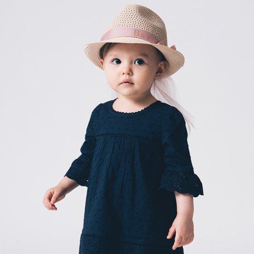【Bardow(バルドー)】チュール付き麦わら帽子/ Straw Hat with Tulle(50cm 52cm)
