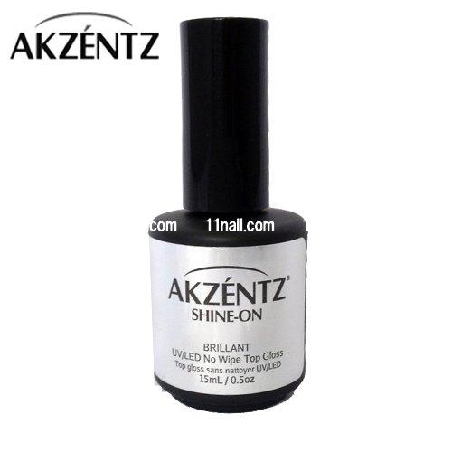 アクセンツ[AKZENTZ]UV/LED シャインオン(15ml)/ノンワイプトップコート[ソークオフ]