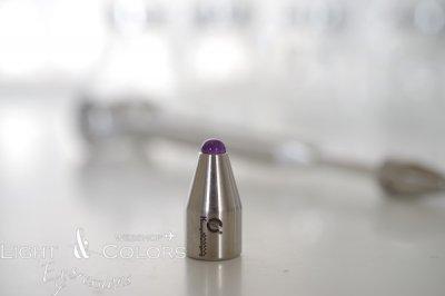 Biosonic 音叉用ジェムエンド アメジスト 6mm