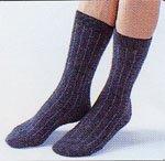 アンゴラ健康靴下・色チャコールグレー<BR>(Lサイズ24cm〜27cm)