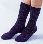 アンゴラ健康靴下・色ネイビー<BR>(Lサイズ24cm〜27cm)