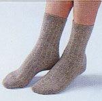 アンゴラ健康靴下・色ライトブラウン<BR>(Mサイズ22cm〜24cm)