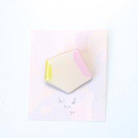 【hikage】絵画のかけらブローチ/バターイエロー×パステルピンク