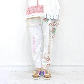 YEAH RIGHT !!  WHITE MESH LINE PANTS(SIZE 1)B
