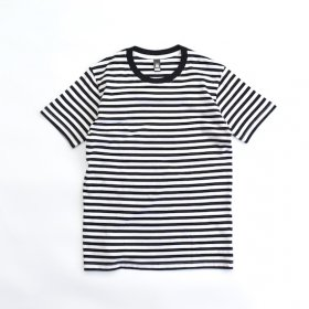 AS Colour ボーダー S/S Tシャツ (BLACK)