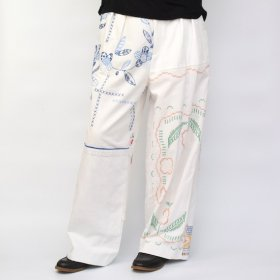 YEAH RIGHT !!  WIDE PANTS/TABLE CLOTH (size 2)