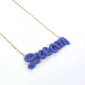 "Knitting Vanessa  ""Dream"" ワードネックレス (purple)"